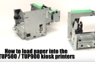 <h4>TUP500/900 Kiosk Printer</h4> <p> How to: Load Paper </p>